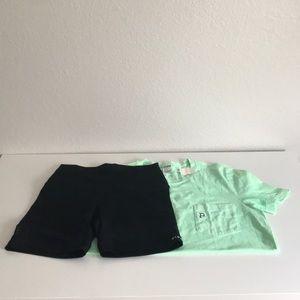 Pink Victoria Secret biker shorts and shirt set